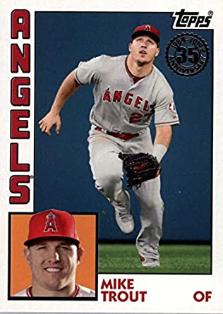 sale retailer b687e b68d4 Amazon.com: 2019 Topps Series 1 - Mike Trout - 1984 Topps ...