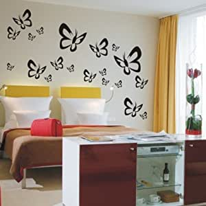 Pema pared adhesivo w521 mariposas butterfly pared - Amazon decoracion pared ...