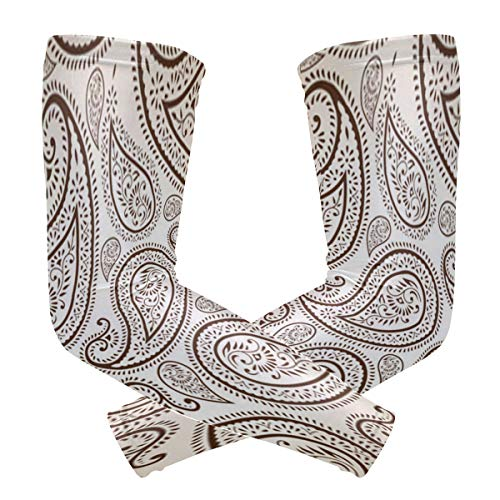 Arm Sleeves Ornate Paisley Man Baseball Long Cooling Sleeves Sun UV Compression Arm Covers -
