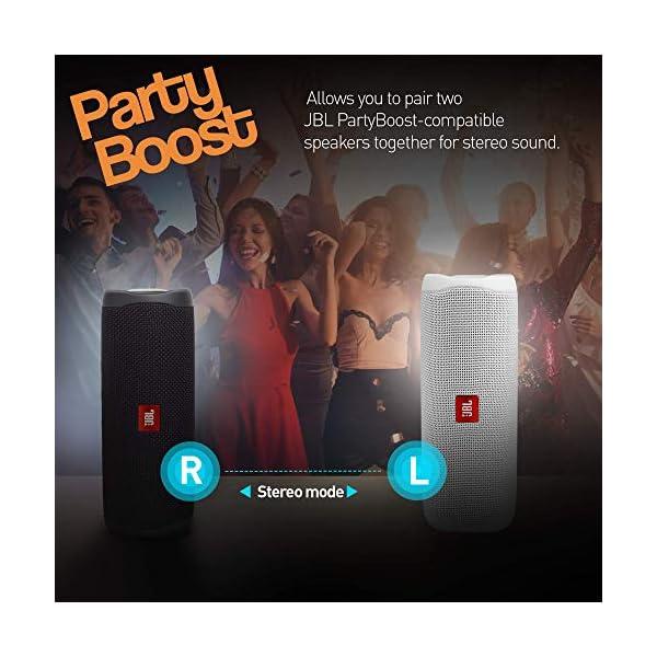 JBL Flip 5 Enceinte Bluetooth Portable avec Batterie Rechargeable, Étanche, Compatible Siri et Google, Noir 7