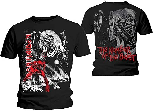 Iron Maiden T Shirt Number Of The Beast Jumbo Band Logo 公式 メンズ 新しい