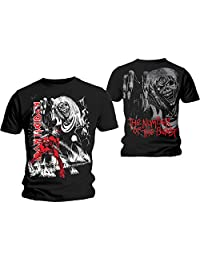 Iron Maiden T Shirt Number of the Beast Jumbo Band Logo Official Mens New Black
