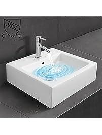 square bathroom sinks. WinZo AN6087 Square Bathroom Vanity Sink White Porcelain Ceramic Vessel Art  Basin Sinks Amazon com Kitchen Bath Fixtures