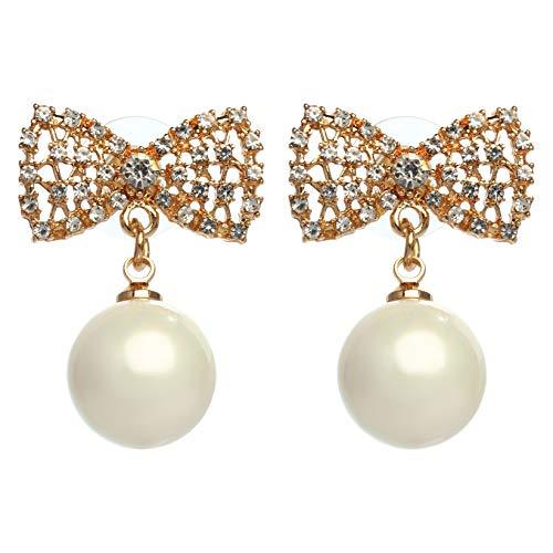 MISASHA Celebrity Designer Camellia Rhinestone Stud Earrings ()