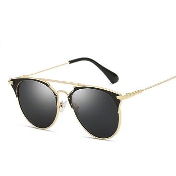 KUNHAN Gafas de sol Señoras Redondas Gafas De Sol Verano ...