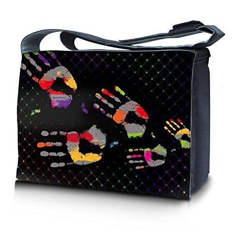 Erizo Huellas Design Luxburg® Para Escuela Portátil Dactilares Ordenadores De Multicolor 17 Laptop Notebook Mensajero Bolso Bandolera Pulgadas 3 Motivo gwZxTpwq
