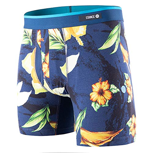 Stance Men's Hibiscus Smear BB Navy Small