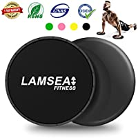 LAMSEA Sliders Fitness, Multi-function Exercise Sliders:...