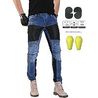 GELing Hombre Motocicleta Pantalones Moto Pantalón Mezclilla Jeans