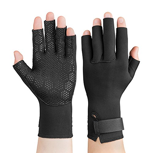Swede-O Thermal Arthritic Pair Gloves, Gray, Medium, 0.25 Pound by Swede-O