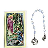 Gifts by Lulee, LLC Saint Raphael the Archangel Rosary Chaplet FREE Laminated Prayer Card
