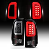 For Black Smoked 2008-2016 Ford F250 F350 F450 F550 SuperDuty LED Tube Tail Lights Pair Brake Lamps
