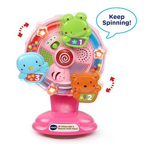 51n8jFMXTmL - VTech Lil' Critters Spin and Discover Ferris Wheels, Pink (Amazon Exclusive)