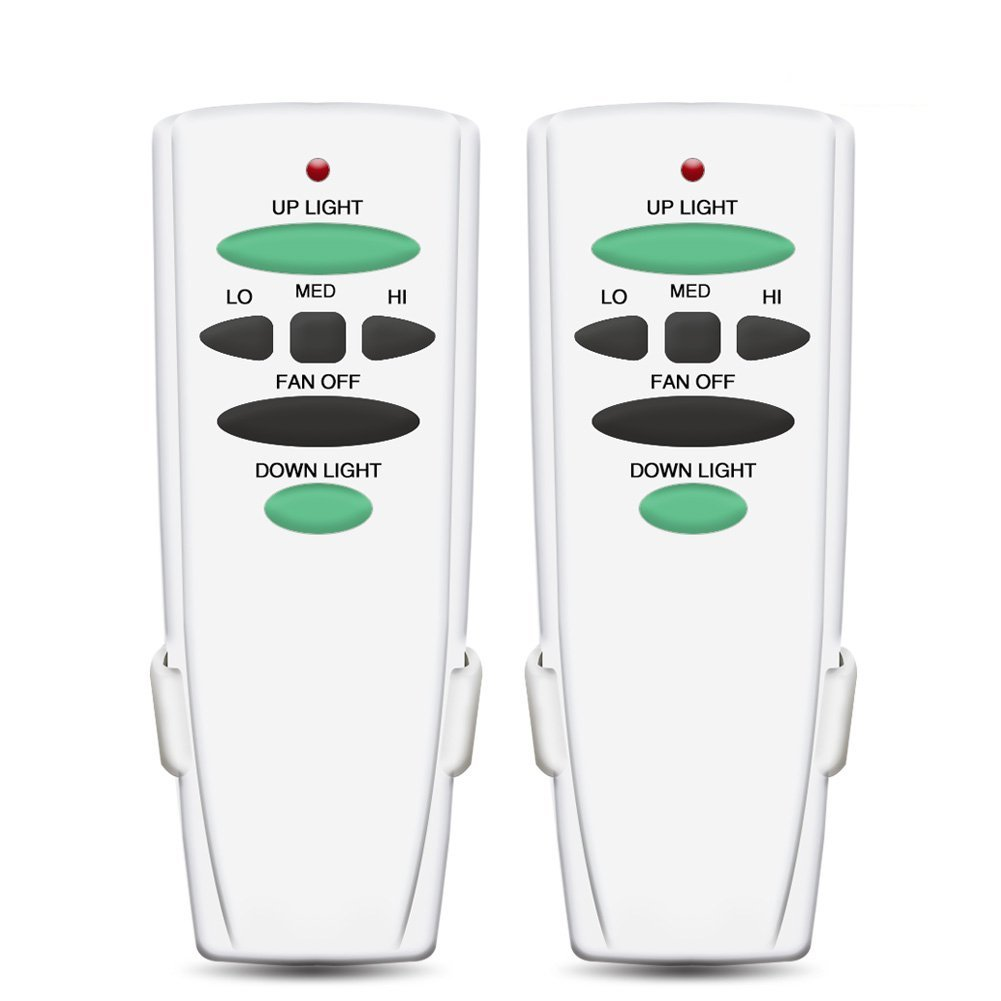 Ceiling Fan Remote Control Replacement of Hampton Bay UC7078T with up and Down Light (Just Remote Control,2 Pack) CFLRC342-01