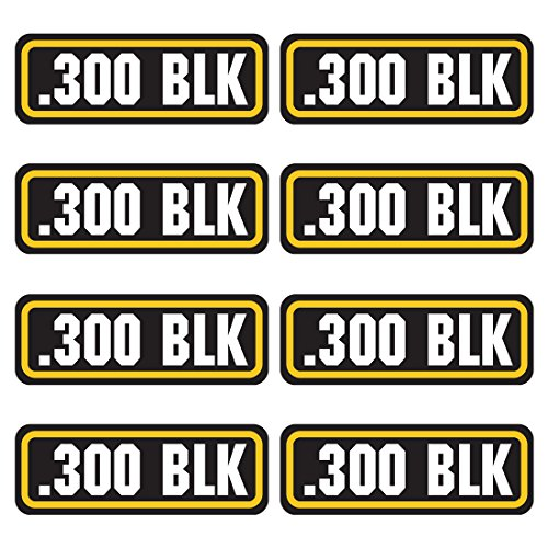 AZ House of Graphics 300 BLK Ammo Sticker 8 Pack ()