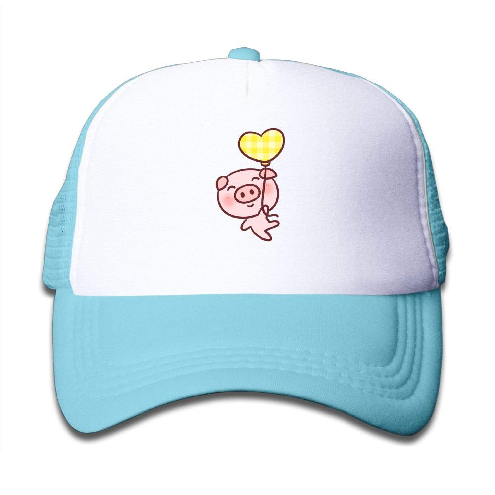Stityshi Kids Cute Pig Printed Baseball Cap Hat Adjustable Mesh Trucker Hats for Boys Girls