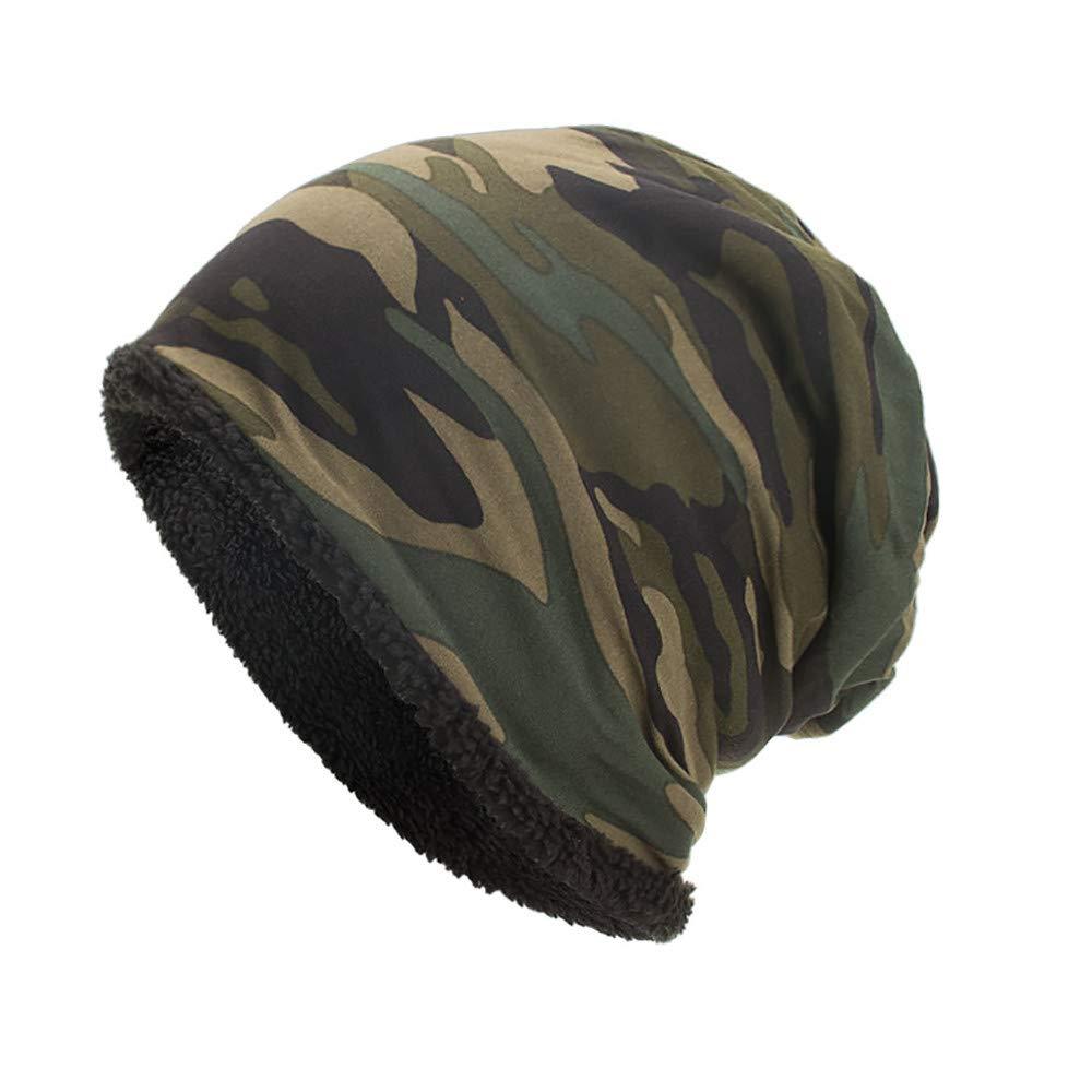 Women Men Unisex Warm Baggy Camouflage Crochet Winter Casual Wool Ski Beanie Skull Caps Hat