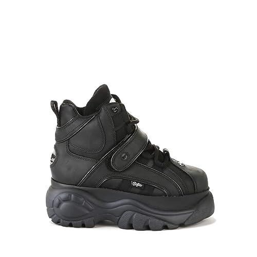 Buffalo London Classic HIGH Leather Black Boots 1348 14