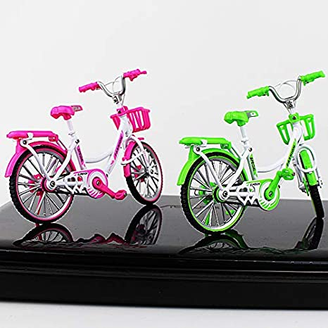 Finger Bike for Collections Ladies/' Bike Green Urchins/' Family Alloy Mini Bicycle Toy