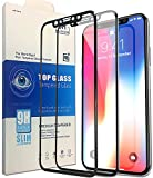 ME Screen Protector For iPhone X[2-Pack], Most Advanced NEW Tech with 3D Full Frame And High Sensitivity, [Anti Scratch][9H Hardness All HD Screen Tempered Glass][Easy Bubble Free Install](Black)