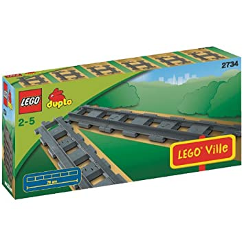 Lego Duplo Eisenbahn 2x Gebogene Schienen nr 2735 Spieldosen