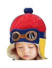 Forart Baby Girls Boys Hats Scarf Beanie Pilot Aviator Earflap Hood Scarves Caps