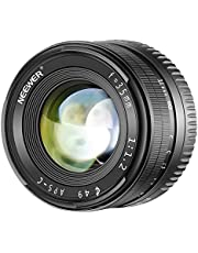 Neewer 35mm F1.2 Large Aperture Prime APS-C Aluminum Manual Lens Compatible with Sony E Mount Mirrorless Cameras A7III A9 NEX 3 3N 5 NEX 5T NEX 5R NEX 6 7 A5000 A5100 A6000 A6100 A6300 A6500