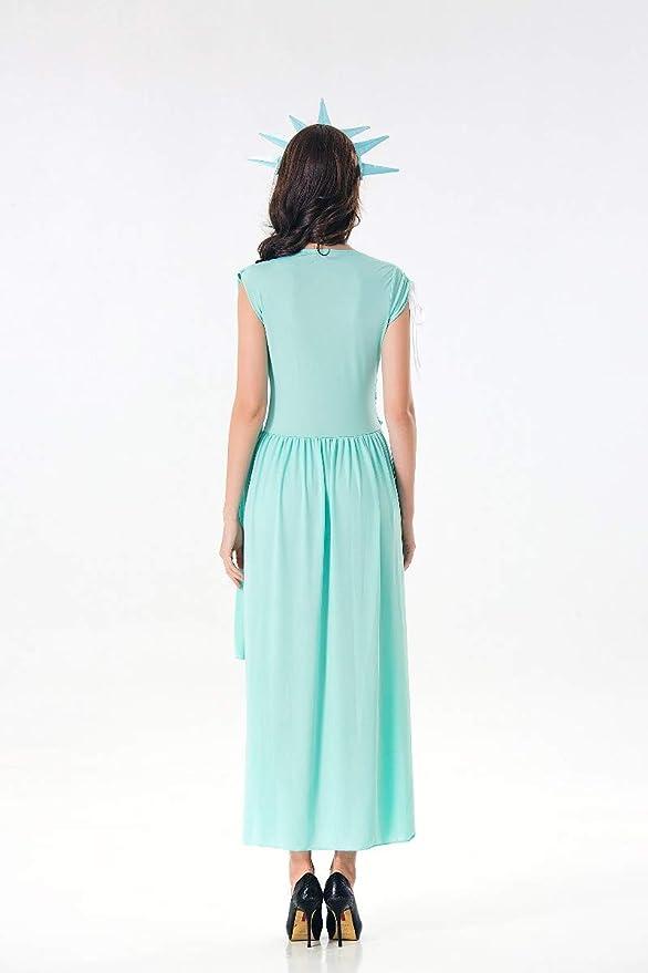 Amazon.com: Disfraz de señora Liberty para mujer, fiesta ...