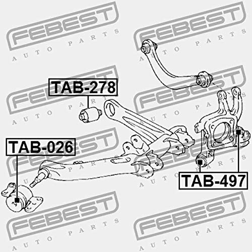 ARM BUSHING REAR ASSEMBLY TAB-497 Febest