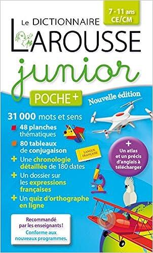 Amazon Fr Larousse Dictionnaire Junior Poche Plus