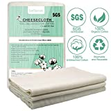 Bellamei Cheesecloth for Straining,100% Organic Unbleached Cotton Fabric, Washable and Reusable Cheese Cloth for Cooking Filter Nut Milk Bag Fruit Juice Yogurt Vegetables Oil Grade 90 36SQ 4 Yards