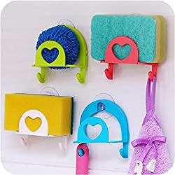 VIPASNAM-1pc Home Kitchen Tool Cute Sponge Holder Suction Cup Useful Gadget Decor Sink
