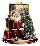 Thomas Kinkade Storytelling Santa Tabletop Figurine: 'Twas The Night Before Christmas by The Bradford Exchange