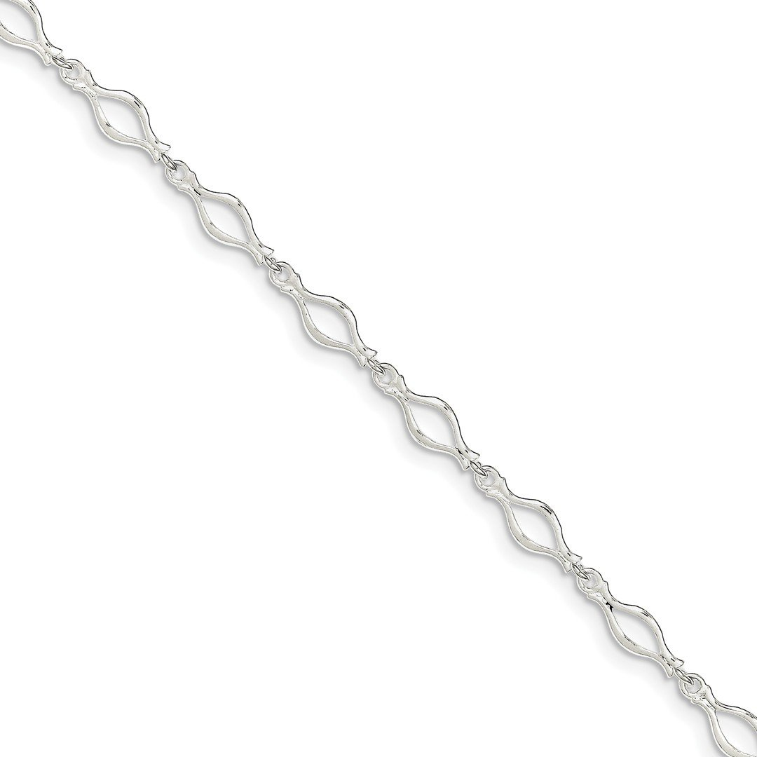 Ankle Bracelet Foot Jewelry Anklet - ICE CARATS 925 Sterling Silver 10 Inch Solid Link Anklet Ankle Beach Chain Bracelet Fine Jewelry Ideal Gifts For Women Gift Set From Heart
