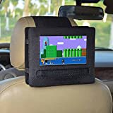 E-LU Car Headrest Mount Holder for APEMAN 7.5'' Portable DVD Player with Swivel Screen and Fits Other 7-7.5' Swivel Screen Portable DVD Player (Black)