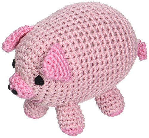 Image of Mirage Pet Products 500-016 Knit Knacks Piggy Boo Organic Cotton Dog Toy, Small