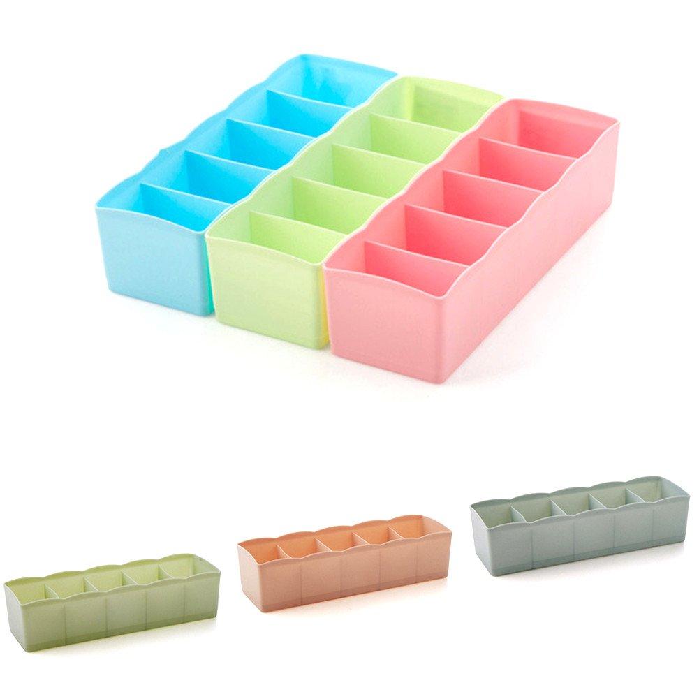 Chaussettes Katech 3 pièces organiseurs de tiroir Plastique étui de rangement Tiroir de bureau ...