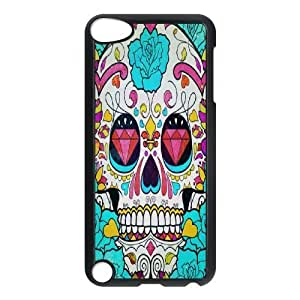 LZHCASE Design Phone Case Artsy Skull For Ipod Touch 5 [Pattern-1]