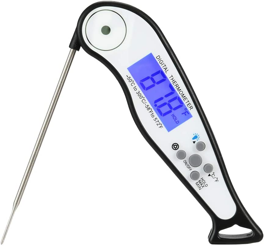 Meat Thermometer for Grilling, Digital Meat Thermometer Oven Safe with Timer for Smokers