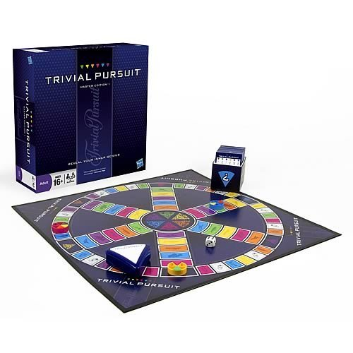 Trivial Pursuit Master Edition Trivia Board Game for Adults and Teens Ages 16 and Up(Amazon -