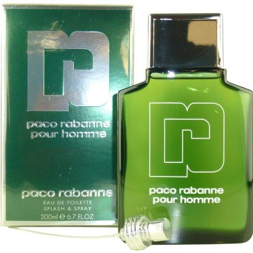 Paco Rabanne Pour Homme Eau de Toilette Splash Spray, 6.7 Ounce