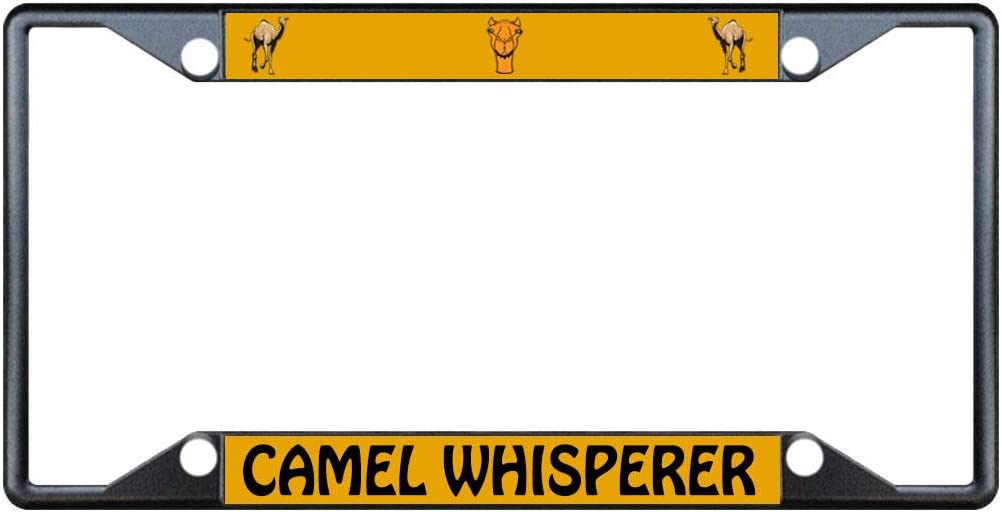 CAMEL WHISPERER ANIMAL Metal License Plate Frame Tag Holder Four Holes