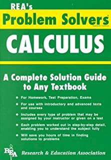 amazon com statistics problem solver problem solvers solution  calculus problem solver problem solvers solution guides