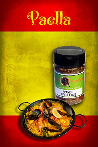 Spices - Herbs - Seasonings by LATIN FLAVORS - 4 Pack Combo Spanish Inspired Blends - Gift Set Collection - Featuring; Spain, Argentina, Mexican & Cuban Flavors - Grilling - Cooking - BBQ - Meat Rub