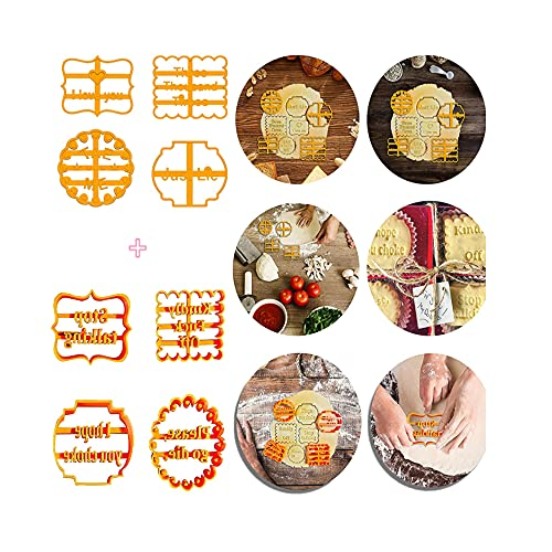 8Pcs Cookie Molds with Good Wishes,Cookie Molds with Rude Sayings Cuss Words, Funny Cookie Molds, Used for DIY Baking Cake Biscuit Desserts