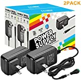 DC12V 2A Power Supply Adapter, SANSUN AC100-240V to DC12V Transformers, Switching Power Supply for 12V LED Strip Lights, 12 Volt 2 Amp Power Adaptor, 2.1mm X 5.5mm US Plug (Pack of 2)