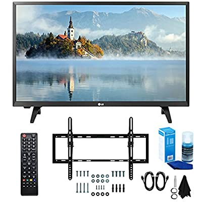 "LG 28LJ400B-PU 28"" Class HD 720p LED TV (2017 Model) with Slim Flat Wall Mount Kit and Professional Screen Cleaning Kit"