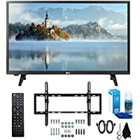 LG 28LJ430B-PU 28 Class HD 720p LED TV (2017 Model) with Slim Flat Wall Mount Kit and Professional Screen Cleaning Kit