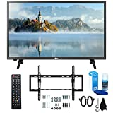 LG 28LJ430B-PU 28' Class HD 720p LED TV (2017 Model) with Slim Flat Wall Mount Kit and Professional Screen Cleaning Kit