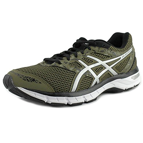 ASICS Men's Gel-Excite 4 Running Shoe, Olive/Silver/Black, 10 M US